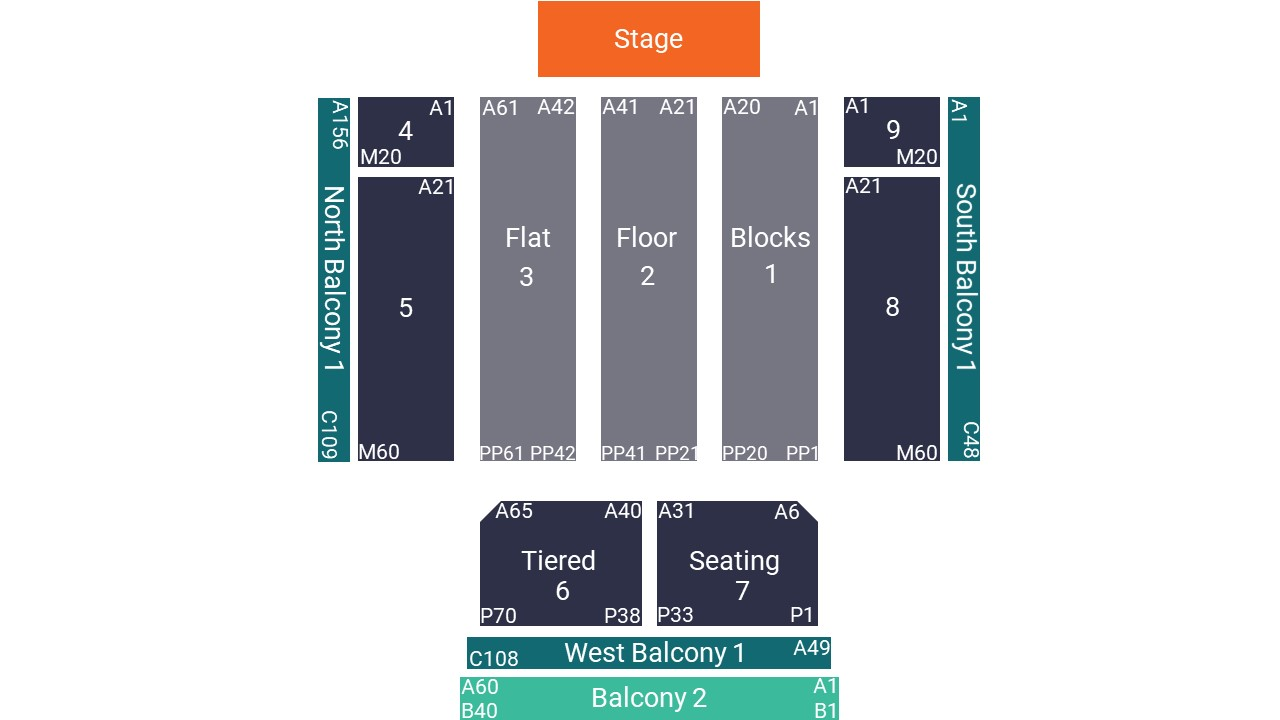 Cardiff Motorpoint Arena Seating Map – All Seated Layout