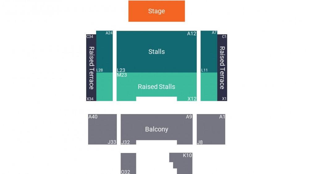 De La Warr Pavilion Seating Map