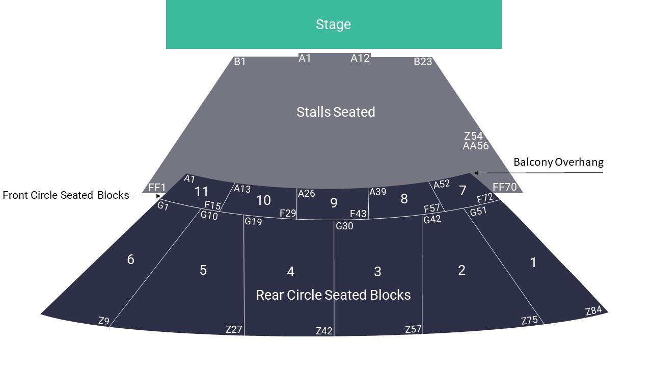 Eventim Apollo Seating Map – Stalls Seating Layout