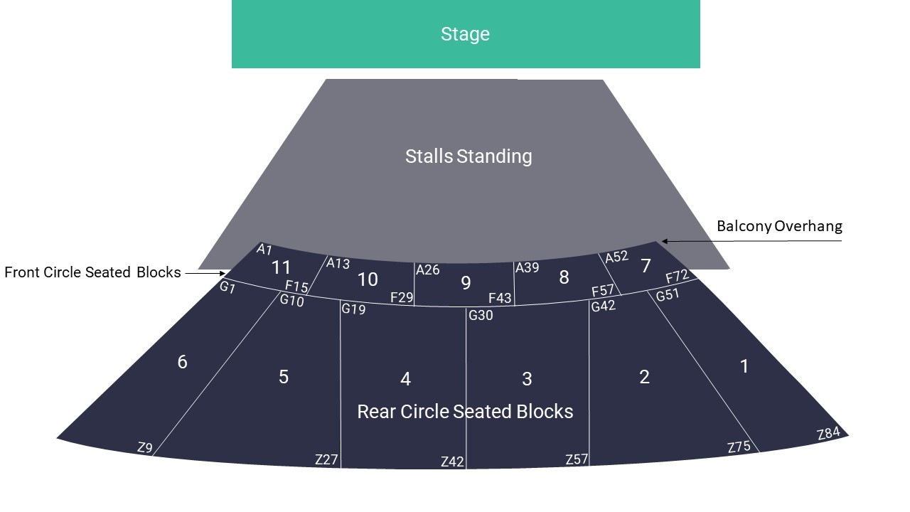 Eventim Apollo Seating Map – Stalls Standing Layout