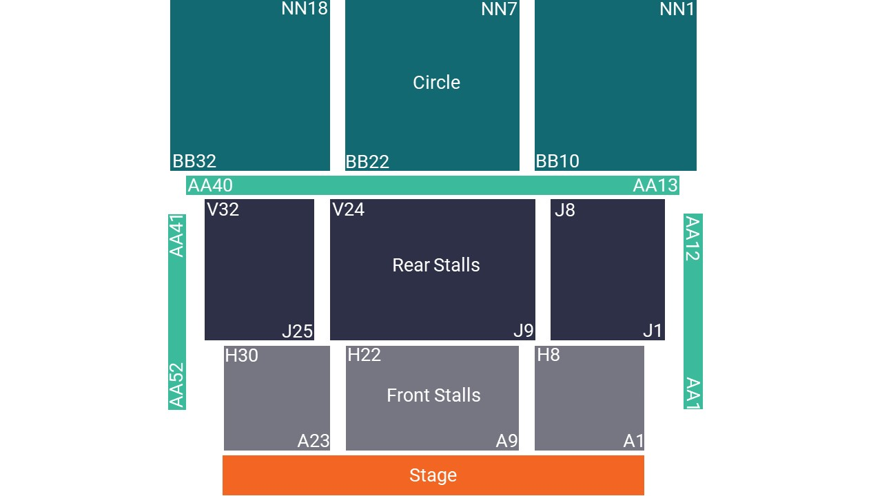 G Live Seating Map