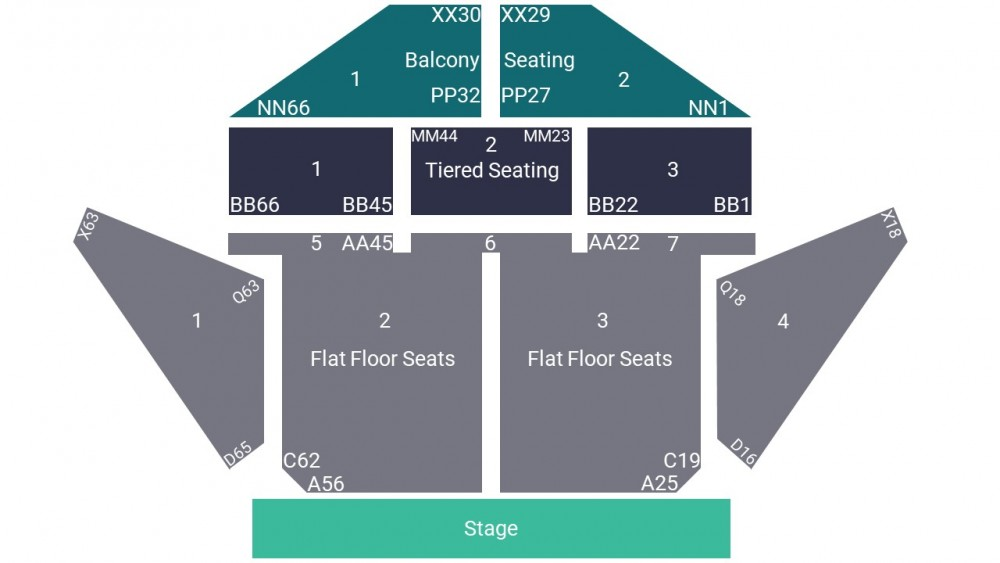 Plymouth Pavillions Seating Map