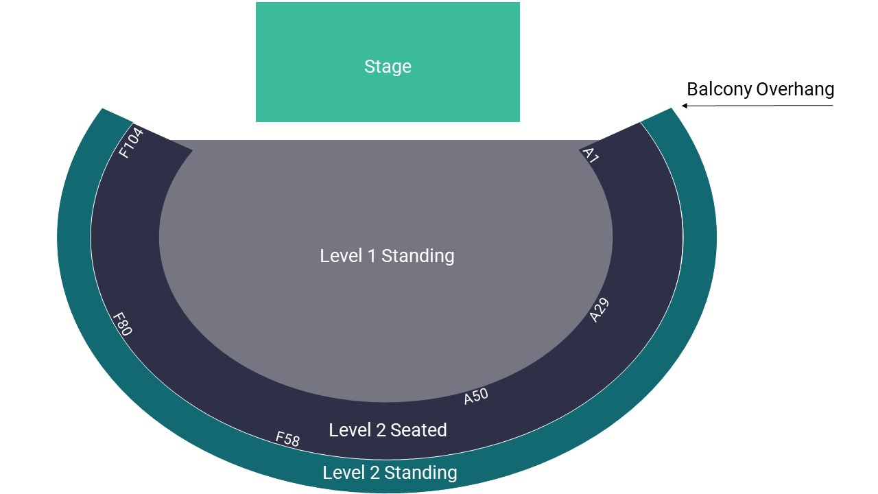Roundhouse Seating Map – Level 1 Standing Layout