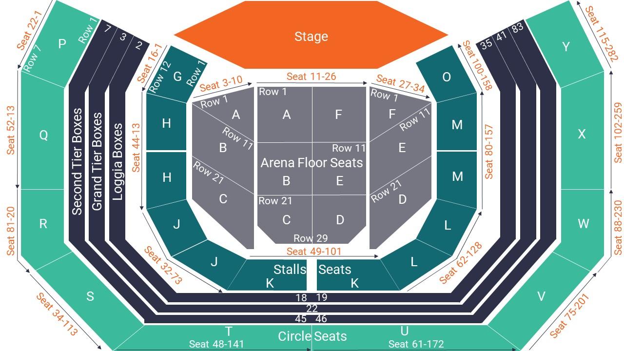 Royal Albert Hall Seating Map – All Seated
