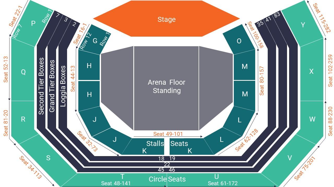 Royal Albert Hall Seating Map – Arena Standing Layout
