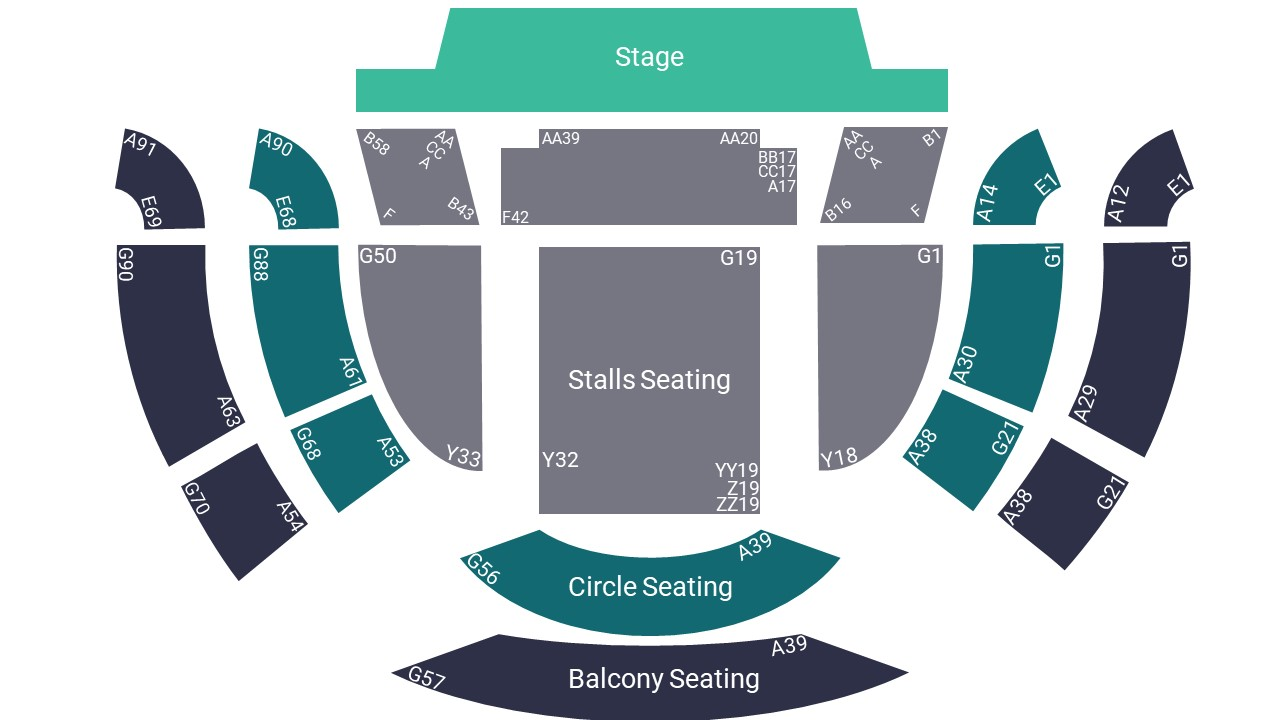 Sheffield City Hall Seating Map