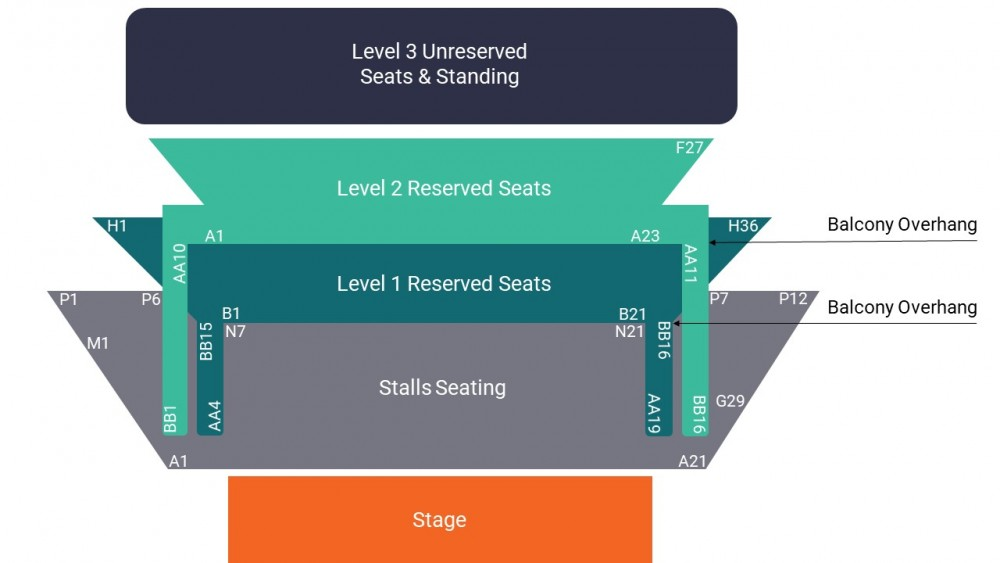 O2 Shepherd's Bush Empire Seating Map – All Seated Layout