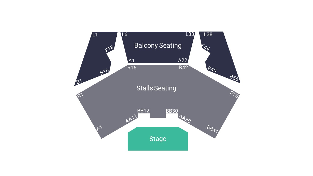 York Barbican Seating Map – All Seated Layout