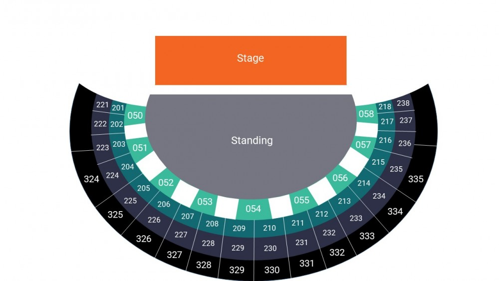 SSE Hydro Glasgow Arena Seating Map – Floor Standing Layout