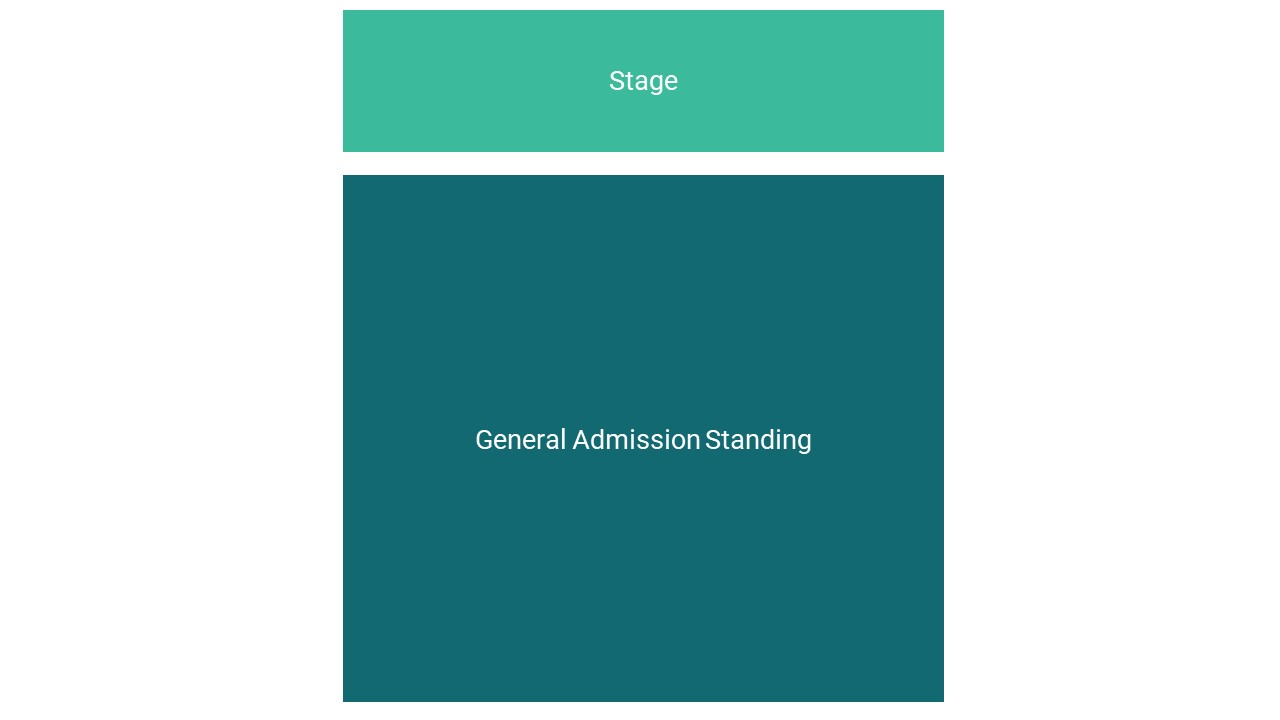 Manchester Academy Seating Map – All Standing Layout