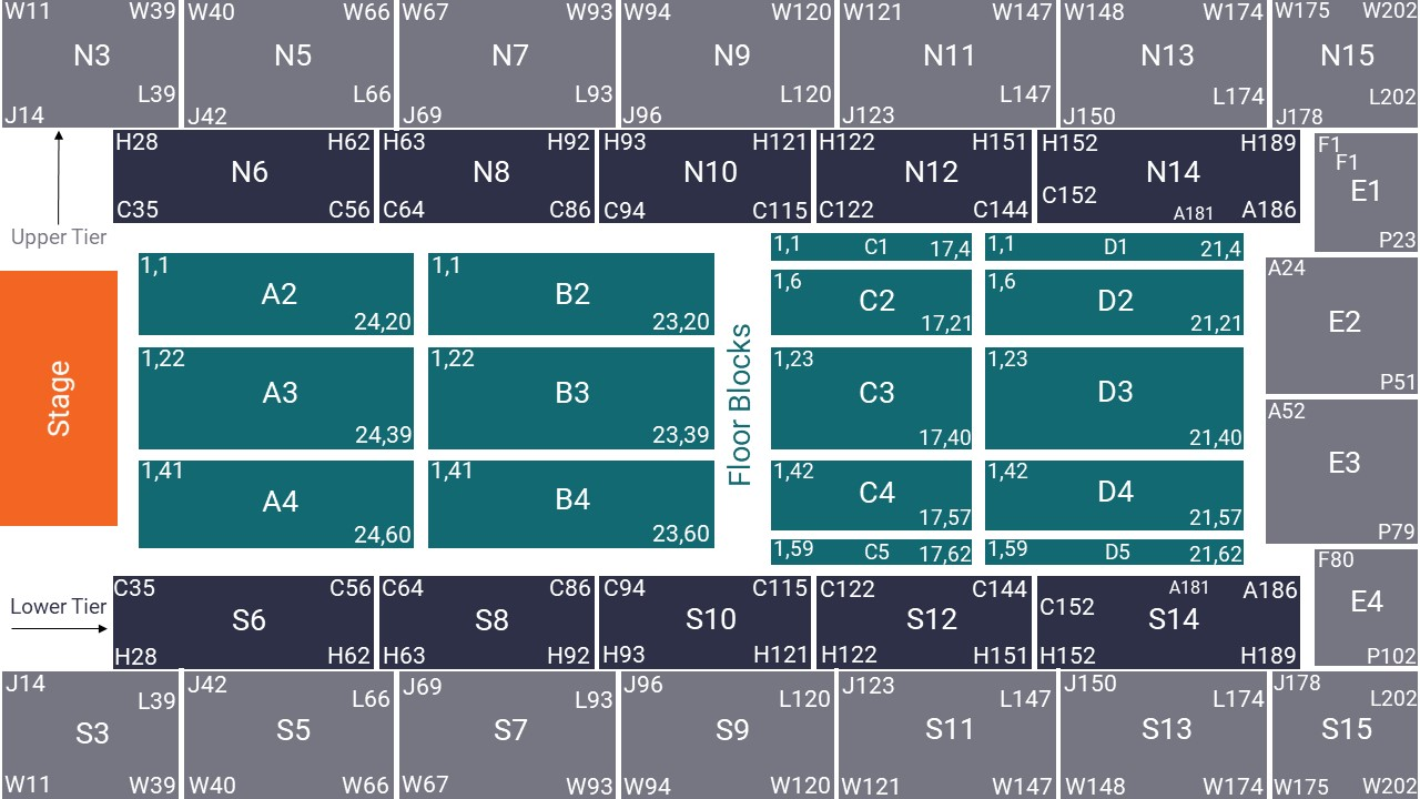 Wembley Arena Seating Map – All Seated Layout