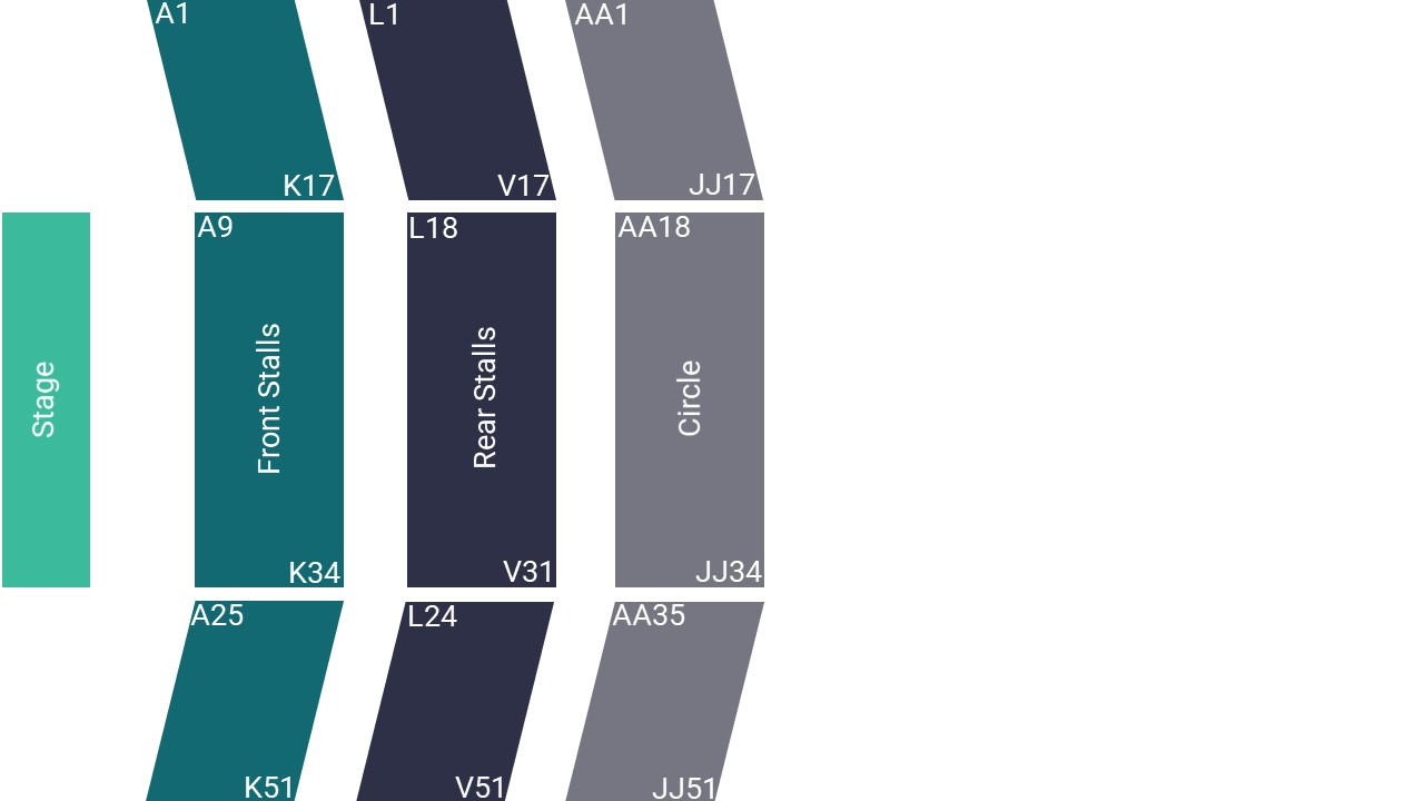 Lighthouse Poole Seating Map