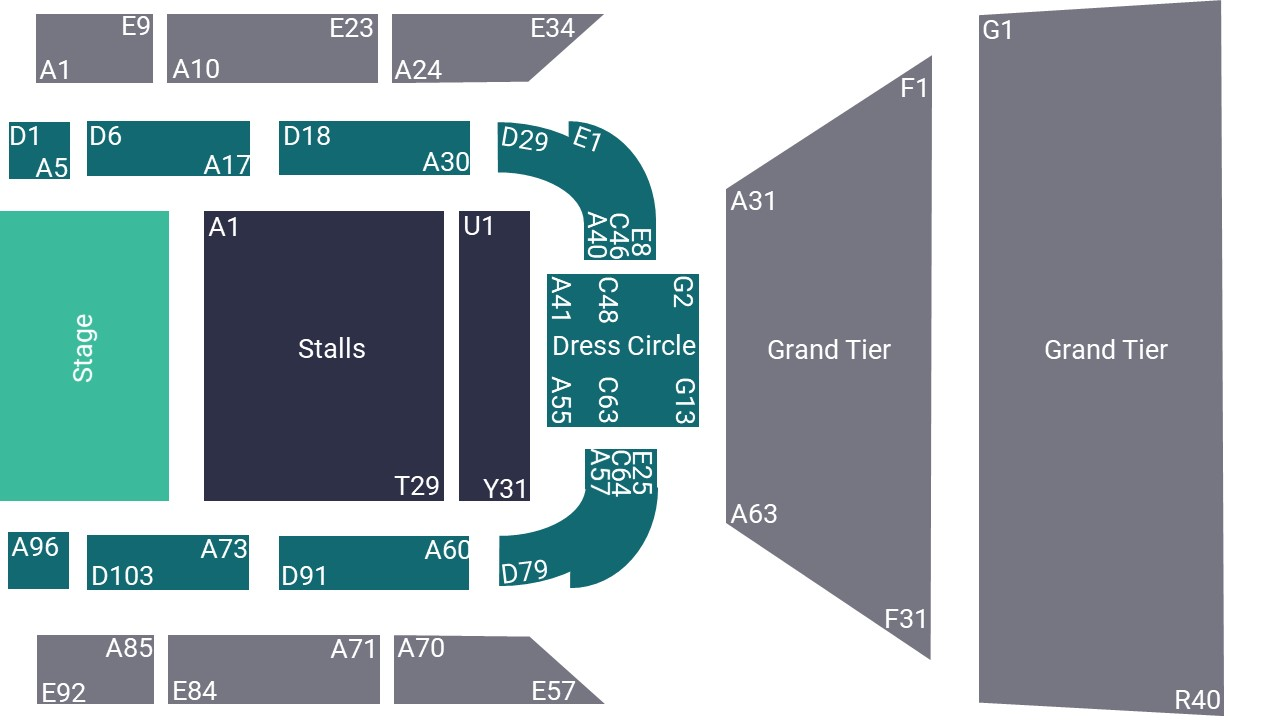 St Georges Hall Bradford Seating Map