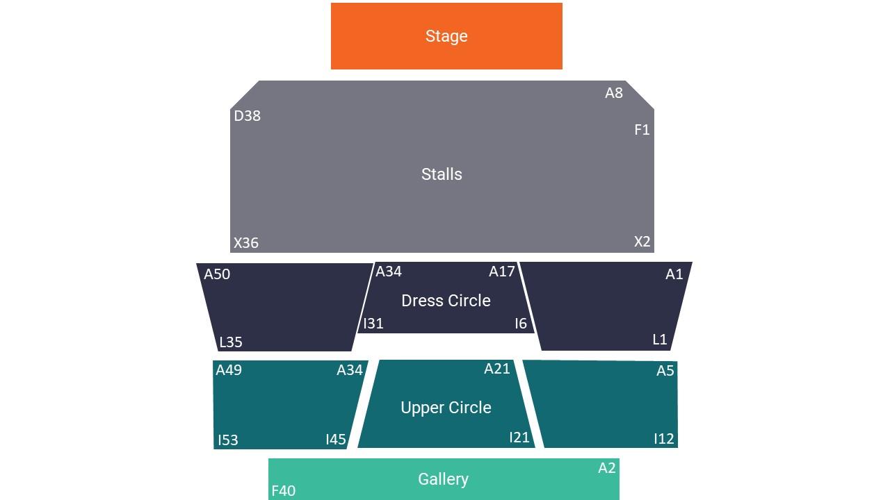Sunderland Empire Seating Map