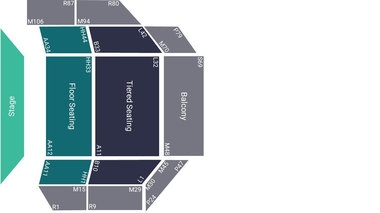 Warwick Arts Centre Seating Map