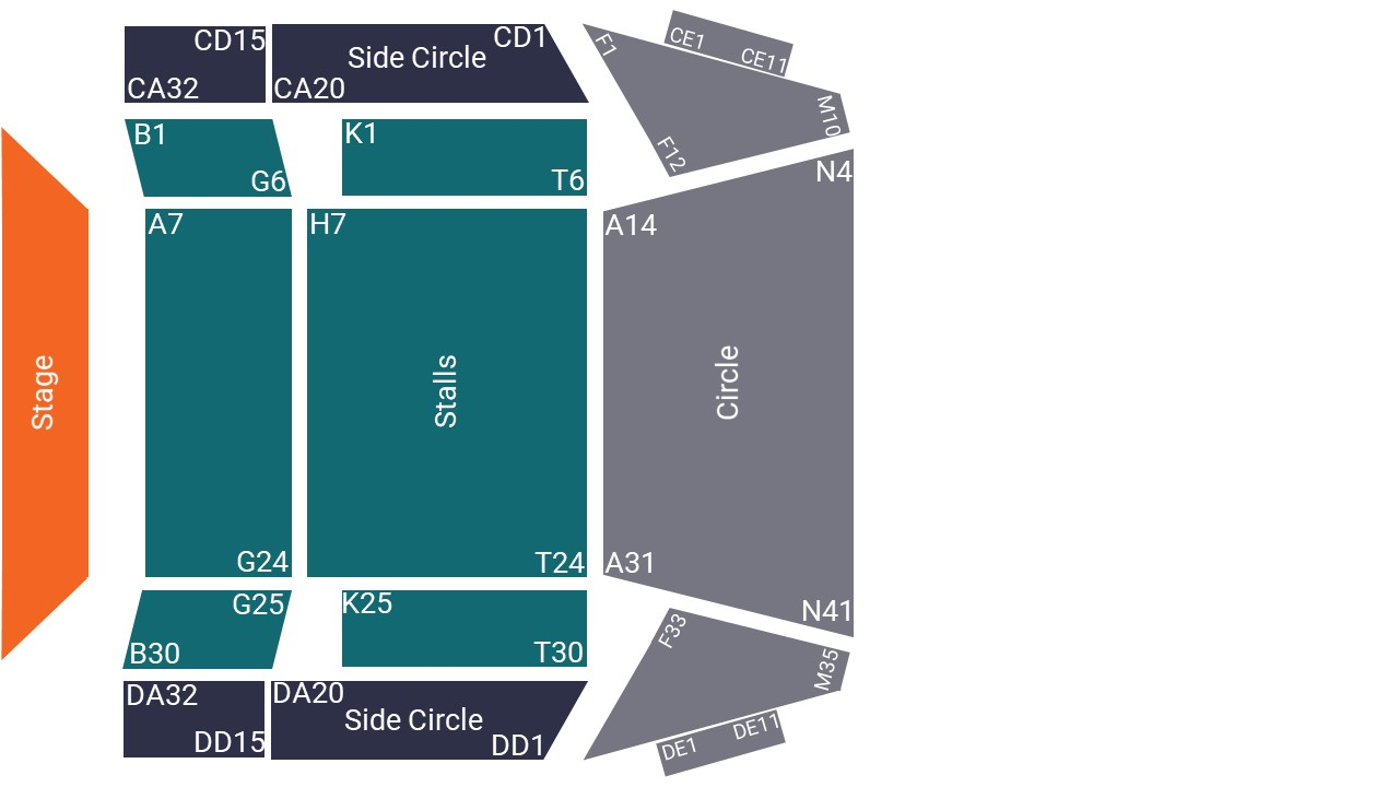 Anvil Arts Centre Seating Map