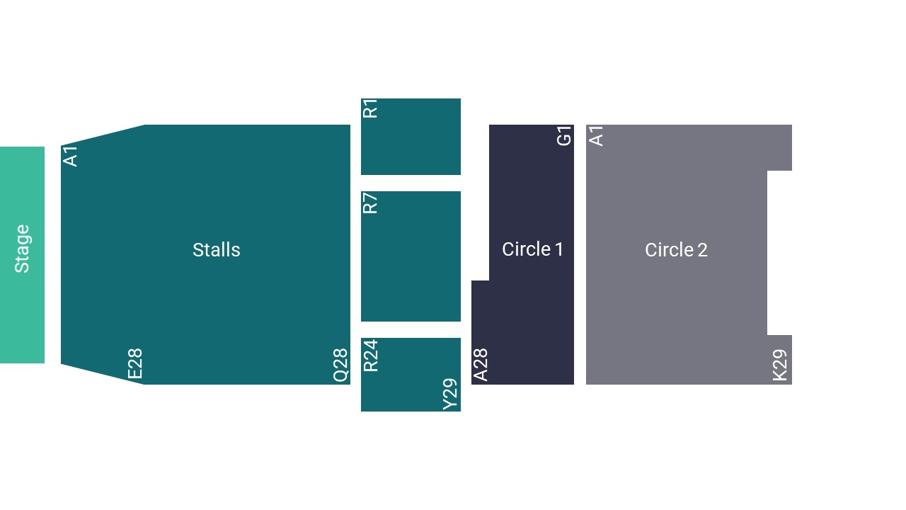 The Waterside Theatre Seating Map