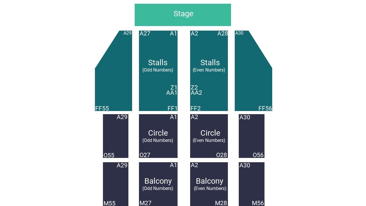 Blackpool Opera House Seating Map