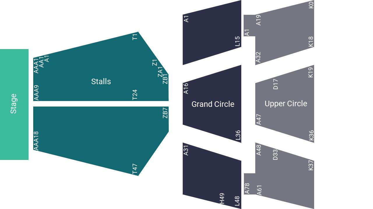 Bristol Hippodrome Seating Map