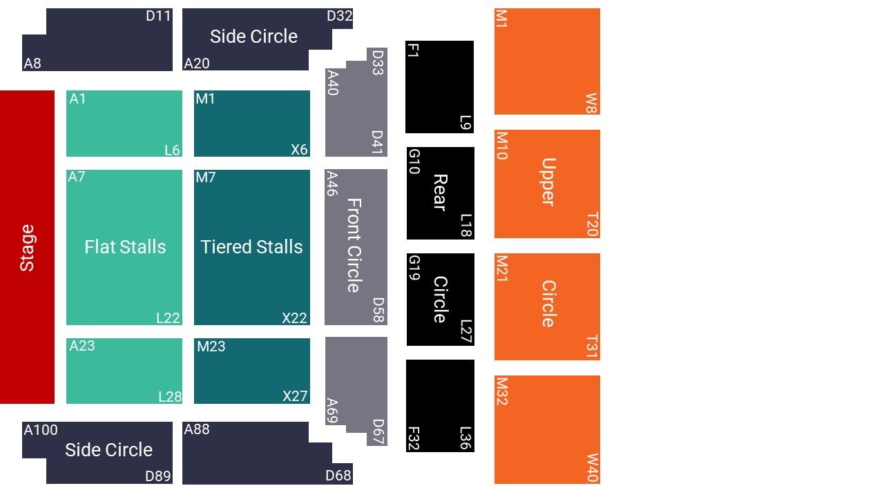 De Montfort Hall Seating Map