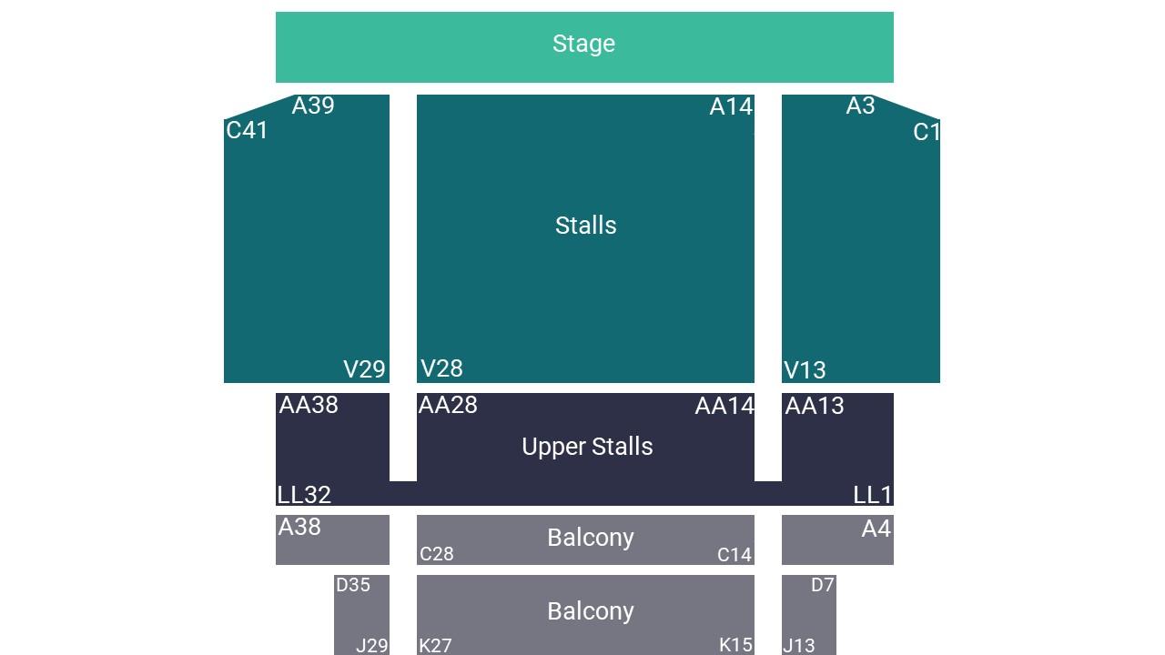 Fairfield Halls Croydon Seating Map
