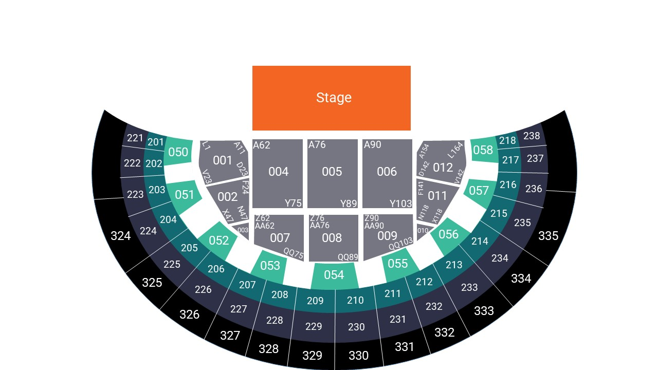 SSE Hydro Glasgow Arena Seating Map – All Seated Layout