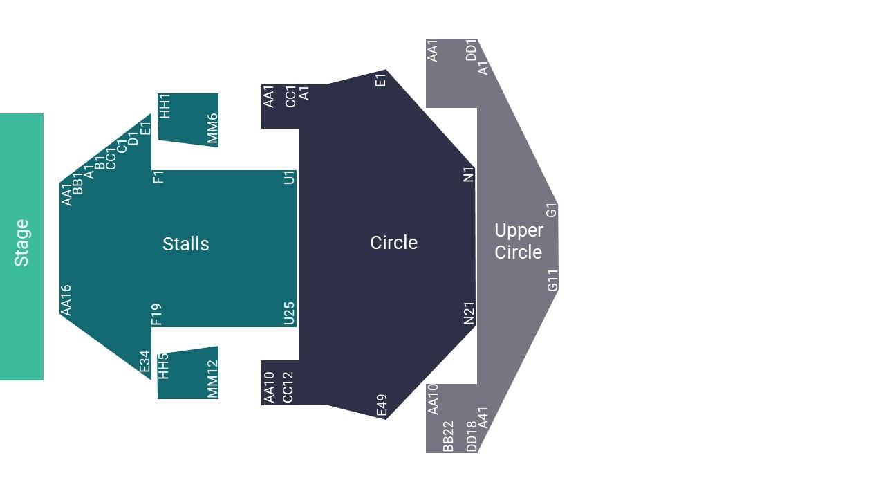 Milton Keynes Theatre Seating Map