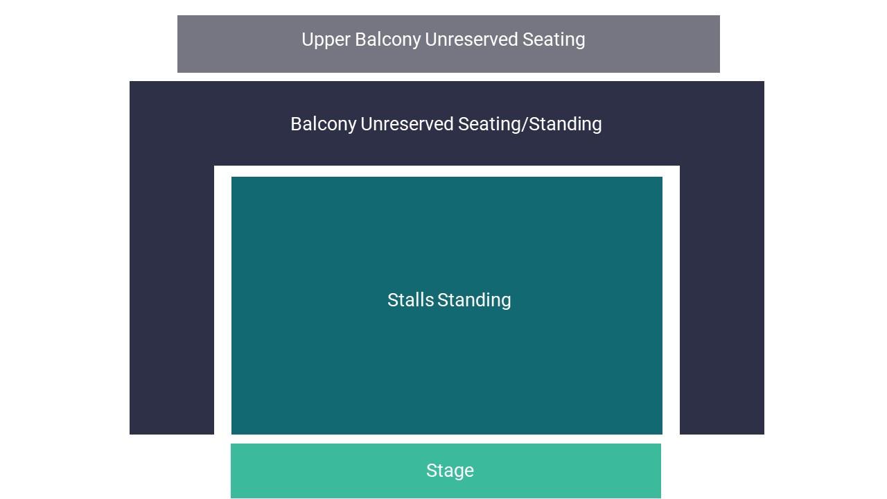 O2 Institute Birmingham Seating Map
