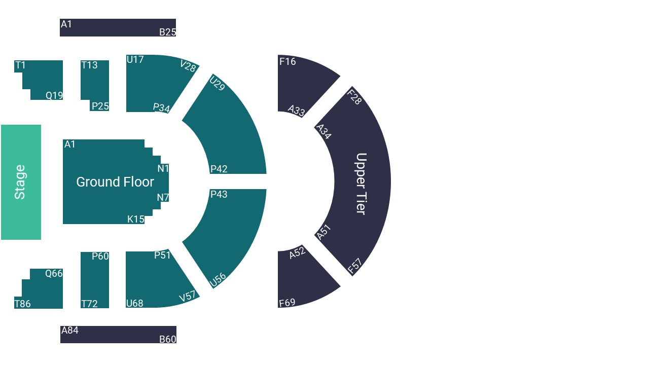 The Queen's Hall Edinburgh Seating Map