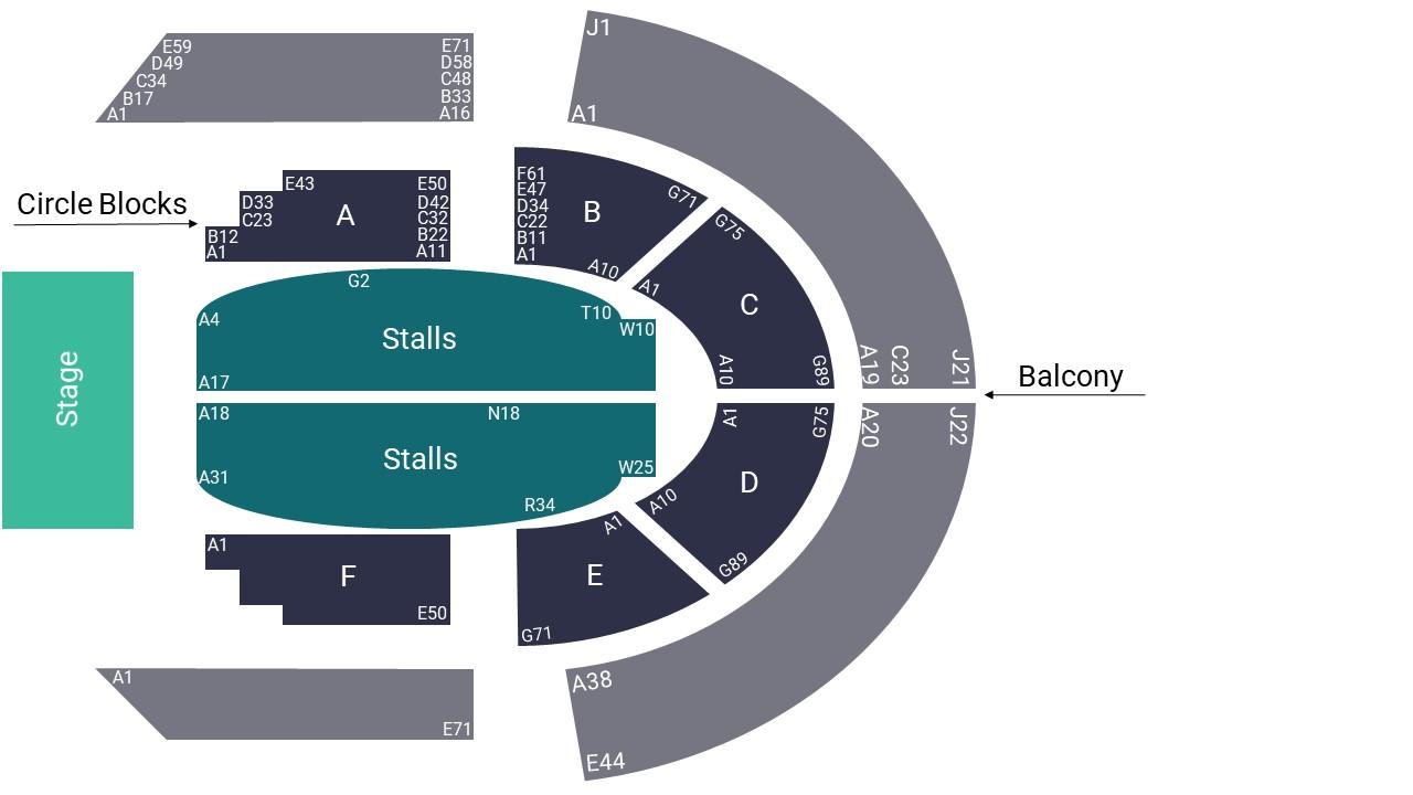 Victoria Theatre Halifax Seating Map