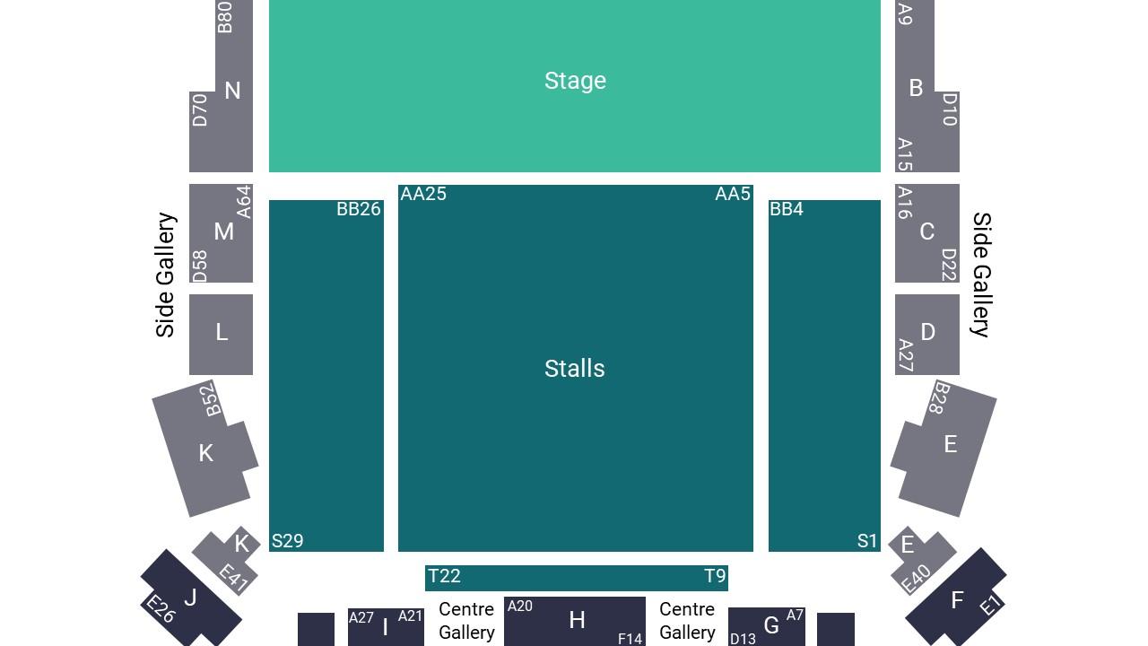 Cadogan Hall Seating Map