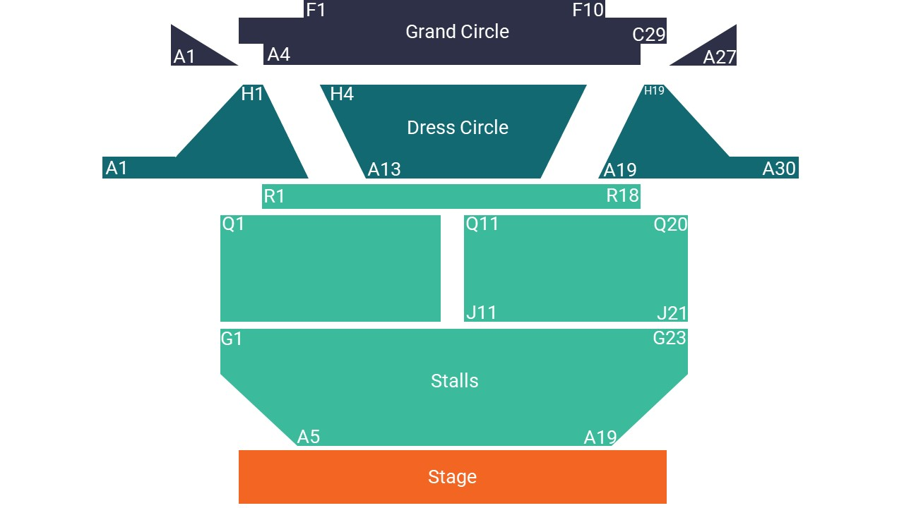 Royal Hippodrome Theatre Eastbourne Seating Map