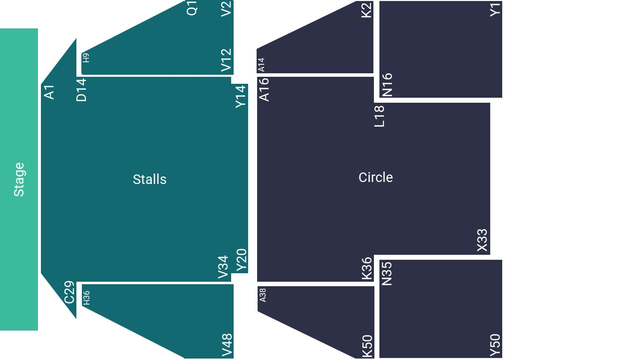 Birmingham Hippodrome Seating Map