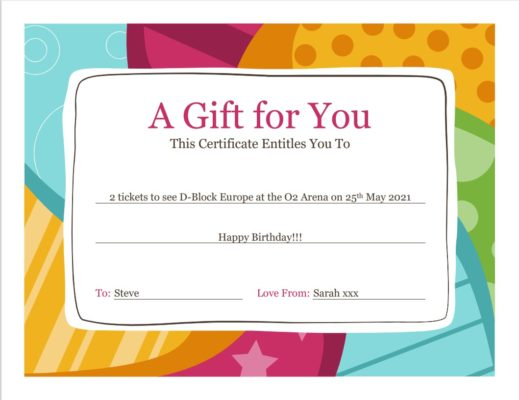 Gigtix launch the Personalised Gift Certificate