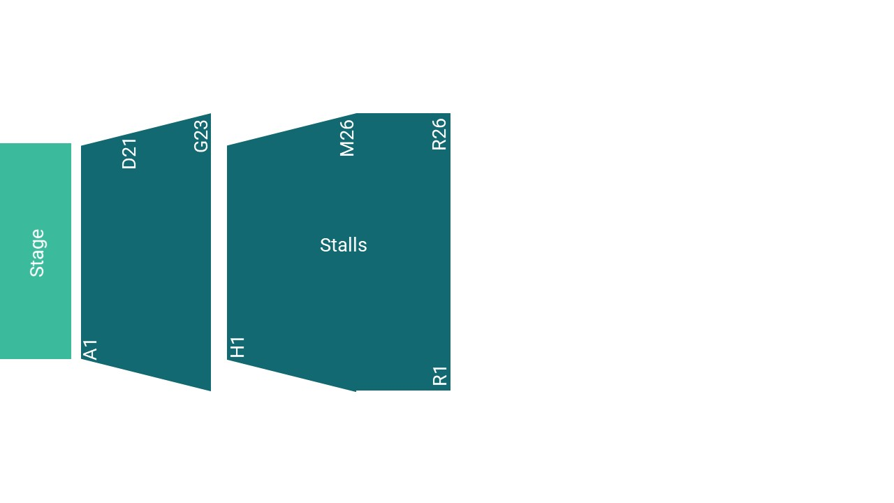 The Roses Theatre Seating Map