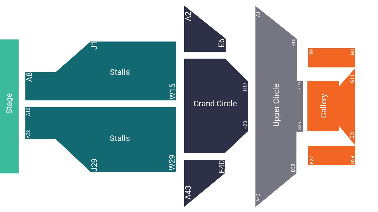 Tyne Theatre and Opera House Seating Map