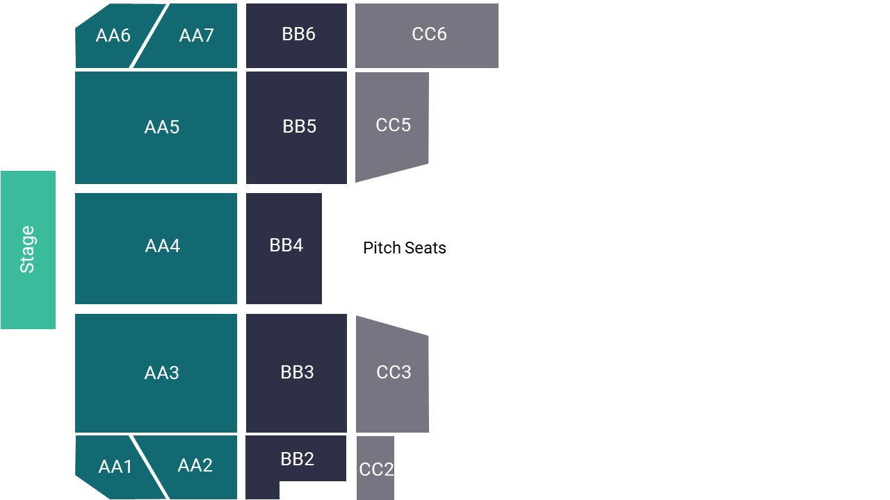 Carrow Road – Pitch Seating Map