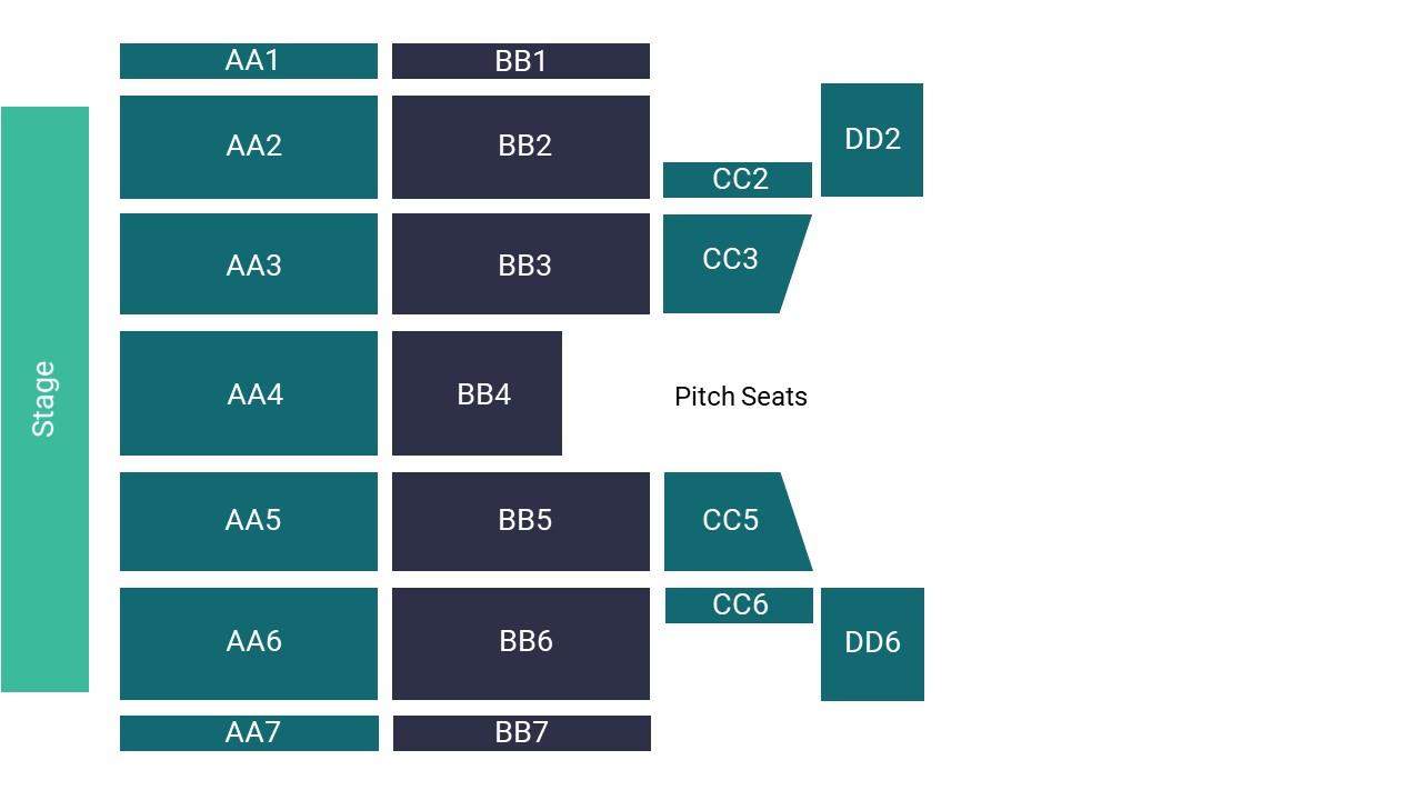 Stadium Of Light – Pitch Seating Map