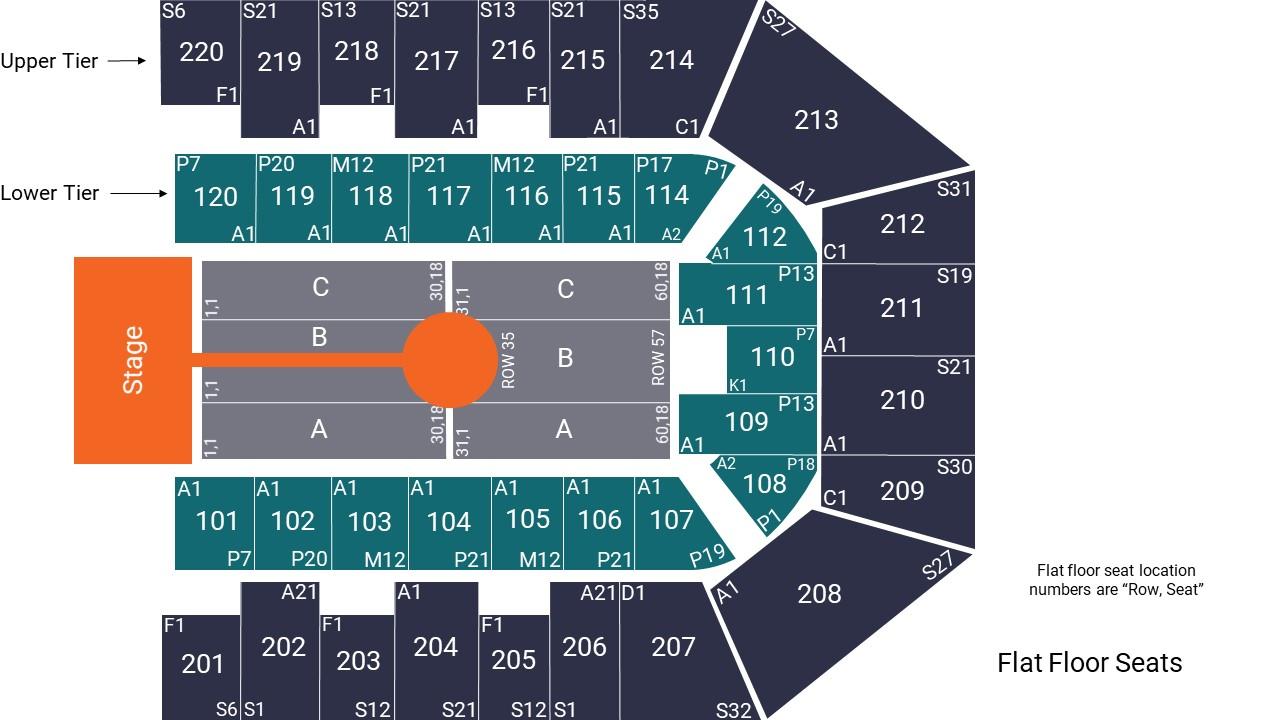 Sheffield Arena Seating Map Runway